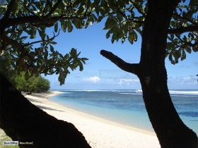 View from badamier tree at west Riambel beach